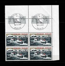Premier jour. 27 avril 1974. Sauvetage en mer. Bloc de 4 timbres.