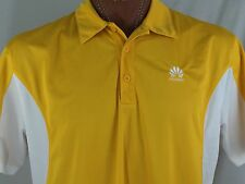 Huawei Technologies Co. Ltd. Yellow Polo 100% Polyester XL X-Large