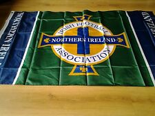 Large Northern Ireland football flag 5ft _3ft new in a sealed bag