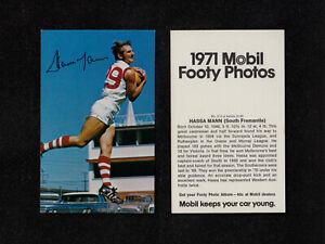 "3721) 1971 MOBIL FOOTY PHOTOS W.A.F.L SERIES ""HASSA MANN"" (SOUTH FREMANTLE) No 2"