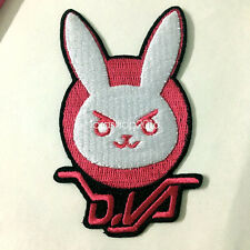 NEW Overwatch D.va Cute Pink Rabbit Bunny Logo Iron On Cosutme Patch For Gift