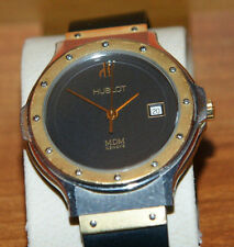 HUBOLT MDM 18K GOLD AND STAINLESS DATE WOMEN'S WATCH 1391.7