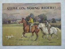 J I LLOYD.COME ON,YOUNG RIDERS.FOR MOSS BROS COVENT GARDEN.SB 1960S ILLS BIEGEL