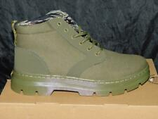 Dr Martens Size 10 43 NEW Olive Green Bonny II Chukka Boots Leather Canvas Mens
