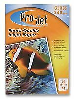 PAPER PHOTO A4 GLOSS 240G X20 Office Consumables Stationery - CJ50086