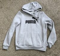 PUMA Youth Boys Girls Size XL Gray Long Sleeve Pullover Hoodie Jacket Sweatshirt
