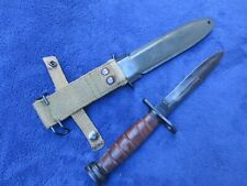 Collectible Vintage Original Us Military Bayonet And Sheath Made In Japan