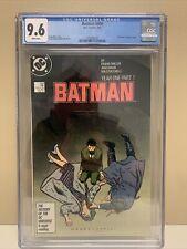 Batman #404 Year One Part One CGC Graded 9.6 NM+ DC Comics1987 Miller Story