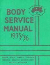 1935-1936 CHEVROLET, PONTIAC, OLDSMOBILE & CADILLAC GM Fisher Body Shop Manual