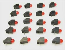20 RED S SCALE END OF TRACK BUMPER LEDS FOR ROUNDHOUSES AND SIDINGS AND MORE