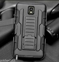 Samsung Galaxy Note 3 Hybrid Tank Armor Holster Case Cover w/ Kick Stand Black*