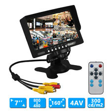7Inch TFT LCD 4 Split Quad Video Display 4-CH IN Car Rear View Full HD Monitor