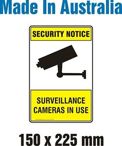 Security Notice Surveillance Camera in Use -Reflective Decal Sticker 150x225mm