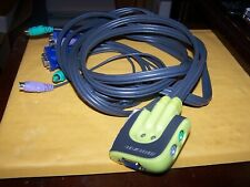 New ListingIogear Gcs62 MiniView Micro Ps/2 Kvm Switch with cables for 2 Computers