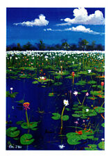 Greeting card Lakelands water lilies at Kakadu by artist Pj Hill