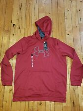 NWT Men's Red UNDER ARMOUR Cold Gear Hoodie Size XL X-LARGE