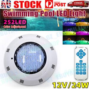 12V 24W RGB waterproof Underwater Swimming Pool LED Light Remote Control