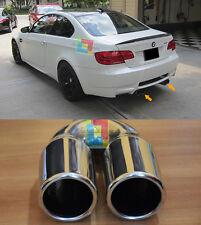 BMW SERIE 3 E92 E93 06-12 - 4x TERMINALI DI SCARICO ACCIAIO INOX DOPPIO USCITA