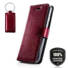 SURAZO® Echtes Ledertasche Handy Hülle Schutzhülle Wallet Case - Ferro Rot