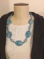 Dyed Magnesite Chunky statement necklace , chunky bohemian/tribal style