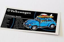 Lego Creator UCS Sticker for VW Beetle 10252