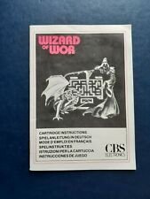 Atari 2600 Wizard of Wor Instruction Manual Only (1983)