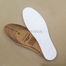 New Unisex Odor Resistant 100% Cork Insole Shoe Inserts Boots Trainers Cuttable