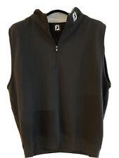 FootJoy Mens Black Spun Poly 1/2 Zip Golf Vest XL