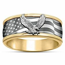 Eagle Ring for Men Fashion Engagement God Bless America Party Fashion Jewelry