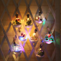 Christmas Tree Battery Copper Wire Light Hanging LED Spherical Bulb Lamp Decor