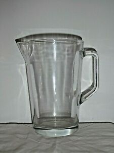 1 Open Top Sturdy Hotel Quality Glass Beer Jug 18.5cm High Holds 1140ml