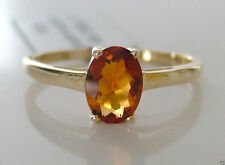 Citrine 9 Carat Solitaire Yellow Gold Fine Rings