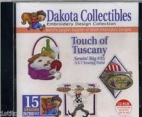"Dakota Touch of Tuscany Sewin Big #35 5""X7"" Machine Embroidery Designs CD 970392"