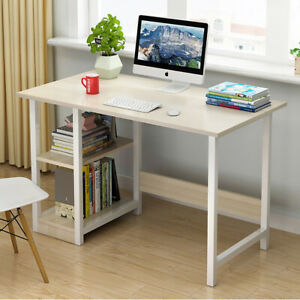 Home Office Computer Desk Student Working Study Writing PC Table with Book Shelf