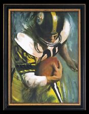 Dave David Boss Signed Pittsburgh Steelers NFL Oil Painting Vintage 1960's