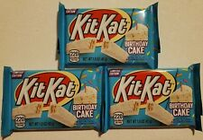 NEW 3 Kit Kat Birthday Cake Crisp Flavored Creme Wafers FREE WORLDWIDE SHIPPING