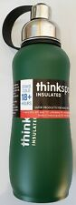 Think Sport Insulated Sports Bottle - Stainless Steel  - Green 25 oz