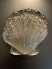 Scallop Shell Seashell Glass Paperweight 5.5�