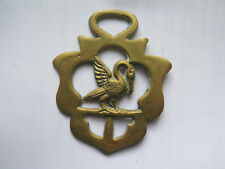 HORSE BRASS of a PELICAN with VERY GOOD DETAIL c1960s
