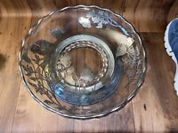 Vintage Silver City Flanders Silver Overlay with metal base