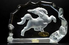 Etched Glass Frosted Glass Decorative Figurine Unicorn Paperweight Sagaofluck