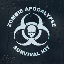 Zombie Skull Response Team Apocalypse Survival Kit Car Decal Vinyl Sticker