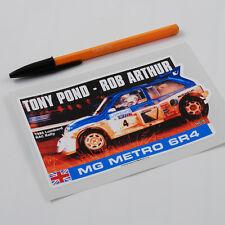 Tony Pond MG Metro 6R4 Sticker Decal 1986 RAC Rally group B Rob Arthur Rover .