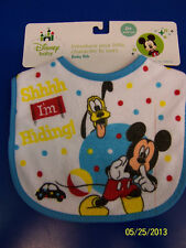 Mickey Mouse & Pluto Disney Fabric Cloth Small Bib Fabric Baby Shower Party Gift