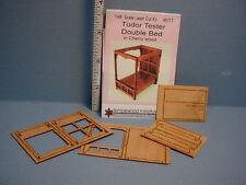 "Double Bed - Tudor Tester  Kit 1/4"" (1:48) scale - #4811T Dollhouse Miniature"