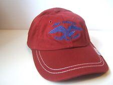 Eagle USA Flag Hat Burgundy Strapback Baseball Cap