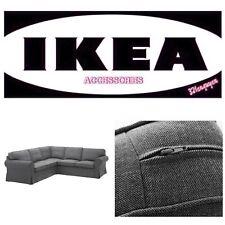 IKEA EKTORP 4 Seat Sectional Corner Sofa Slipcovers Nordvalla dark gray - NEW