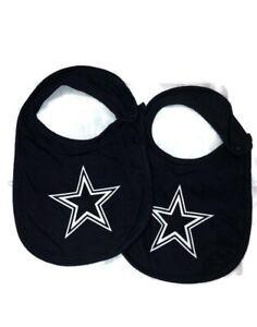 Dallas Cowboys Infant Baby Logo Blue Bibs Set New