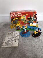 Walt Disney Vintage Mickeys Come & Go Train Playset Estrela 1970s 80s Vai Vem Do