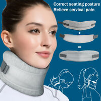 Adjustable 2-in-1 Neck Brace Collar Cervical Support Traction Pain Relief Device